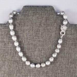 REAL - 12mm Gray Pearl Necklace